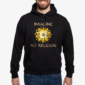 Imagine No Religion Hoodie (dark)