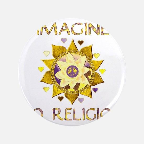 """Imagine No Religion 3.5"""" Button"""