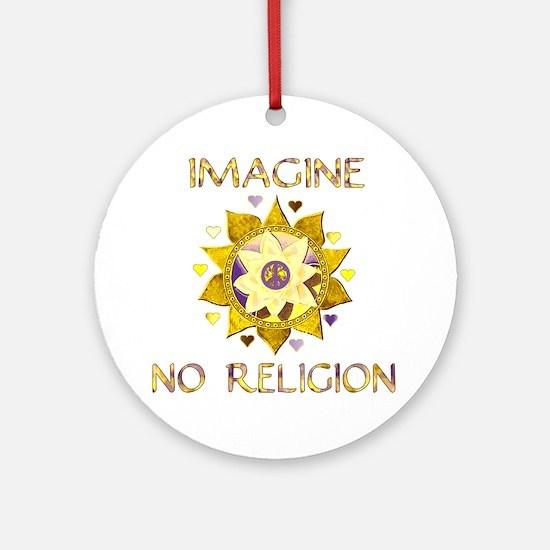 Imagine No Religion Round Ornament