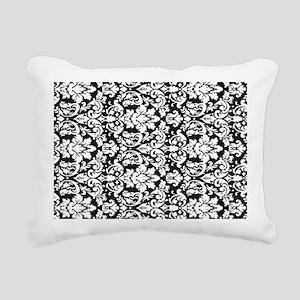 ornate intricate white b Rectangular Canvas Pillow
