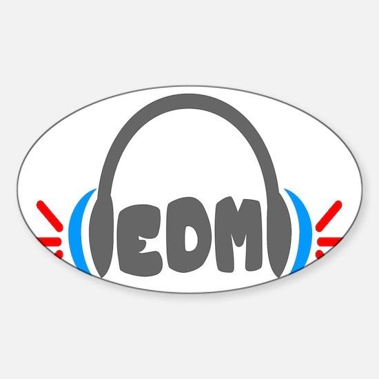 EDM - Headphones Shirt Sticker (Oval)