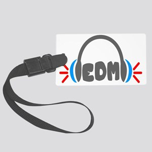 EDM - Headphones Shirt Large Luggage Tag