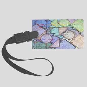 clutch B shapes contour Large Luggage Tag