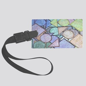 clutch A shapes contour Large Luggage Tag