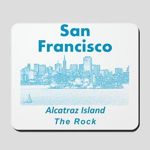 SanFrancisco_10x10_v1_AlcatrazIsland_Blu Mousepad
