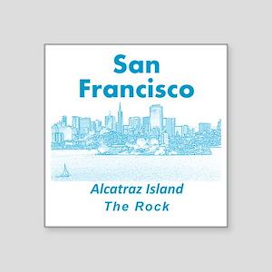 """SanFrancisco_10x10_v1_Alcat Square Sticker 3"""" x 3"""""""