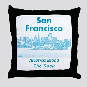 SanFrancisco_10x10_v1_AlcatrazIsland_ Throw Pillow