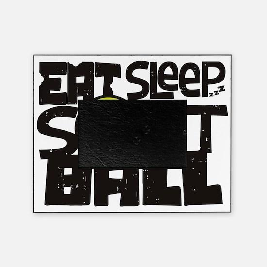 EAT, SLEEP, SOFTBALL - Black Picture Frame