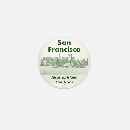 SanFrancisco_10x10_v1_AlcatrazIsland_G Mini Button