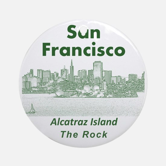 SanFrancisco_10x10_v1_AlcatrazIslan Round Ornament