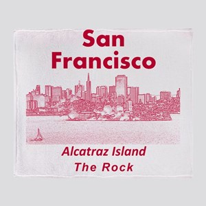 SanFrancisco_10x10_v1_AlcatrazIsland Throw Blanket