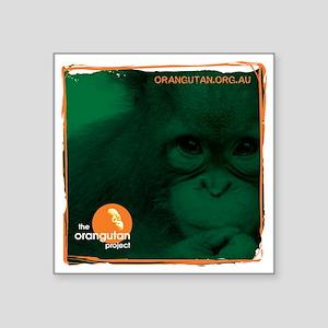 """The Orangutan Project Square Sticker 3"""" x 3"""""""
