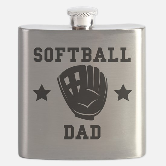 Softball Dad Flask