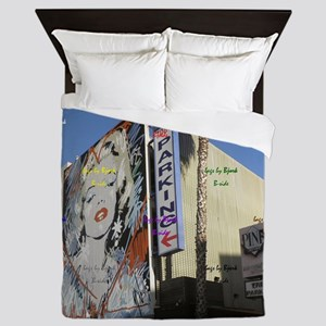 12x12 B side hooray4hollywood parking Queen Duvet