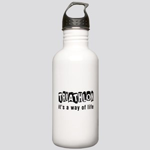 Triathlon it is a way of life Stainless Water Bott
