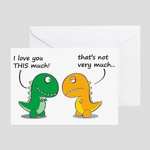 Cute Dinosaurs Greeting Card