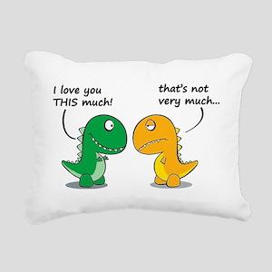Cute Dinosaurs Rectangular Canvas Pillow