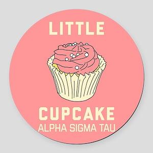 Alpha Sigma Tau Little Cupcake Round Car Magnet