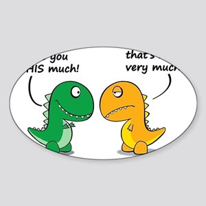 Cute Dinosaurs Sticker (Oval)