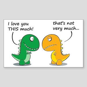 Cute Dinosaurs Sticker (Rectangle)