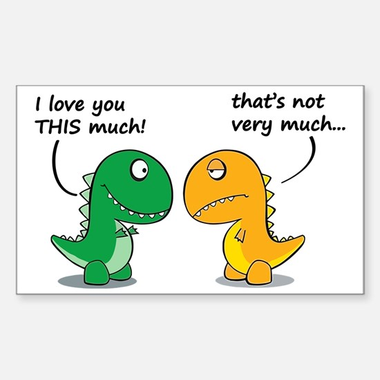 Cute Dinosaurs Sticker (Rectangle)