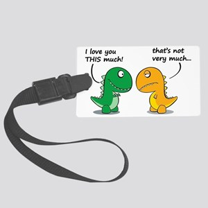 Cute Dinosaurs Large Luggage Tag