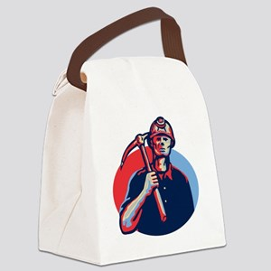 Coal Miner Pick Axe Retro Canvas Lunch Bag