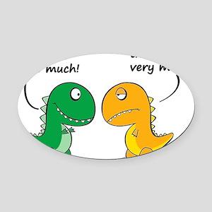 Cute Dinosaurs Oval Car Magnet