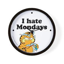 I Hate Mondays Wall Clock