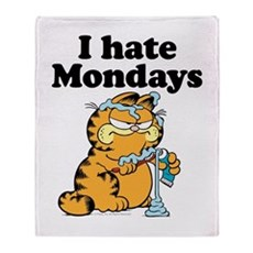 I Hate Mondays Throw Blanket