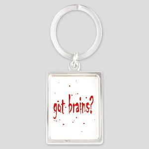 Zombie Got Brains? Portrait Keychain