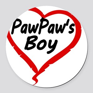 PAWPAWS BOY Round Car Magnet