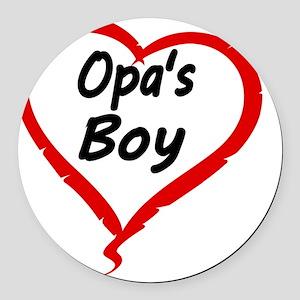 OPAS BOY Round Car Magnet