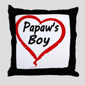 Papaws Boy Throw Pillow