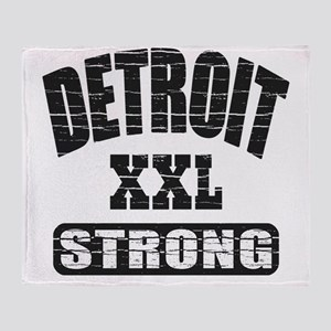 Detroit Strong Throw Blanket
