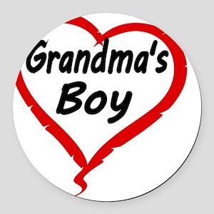 GRANDMAS  BOY Round Car Magnet