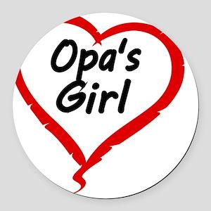 OPAS GIRL Round Car Magnet