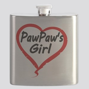 PAWPAWS  GIRL Flask
