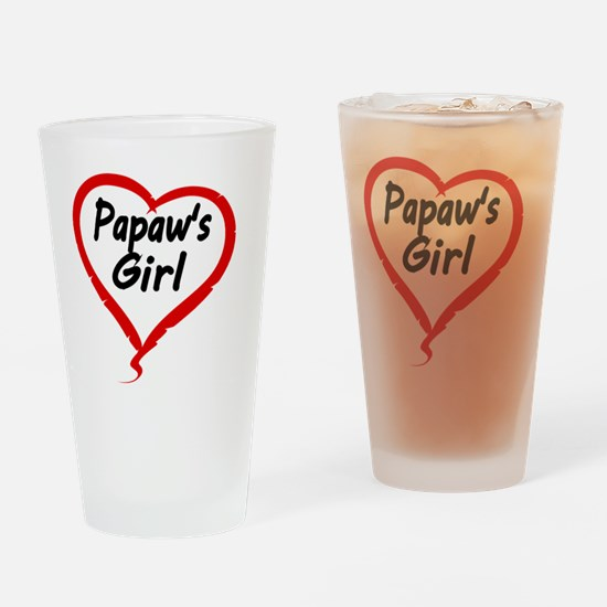 PAPAWS  GIRL Drinking Glass