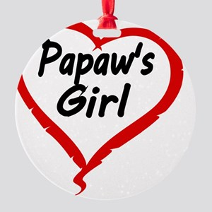 PAPAWS  GIRL Round Ornament