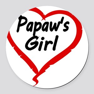 PAPAWS  GIRL Round Car Magnet