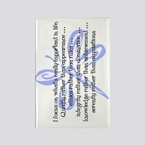 WhatsImportantInLife-102011-flip Rectangle Magnet