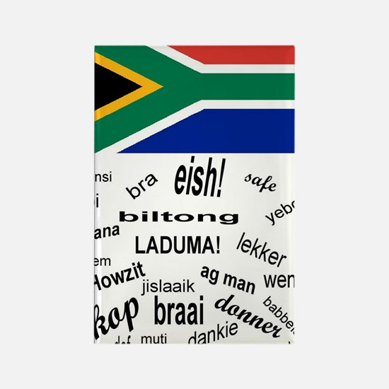 South African Slang Rectangle Magnet