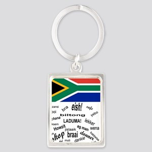 South African Slang Portrait Keychain