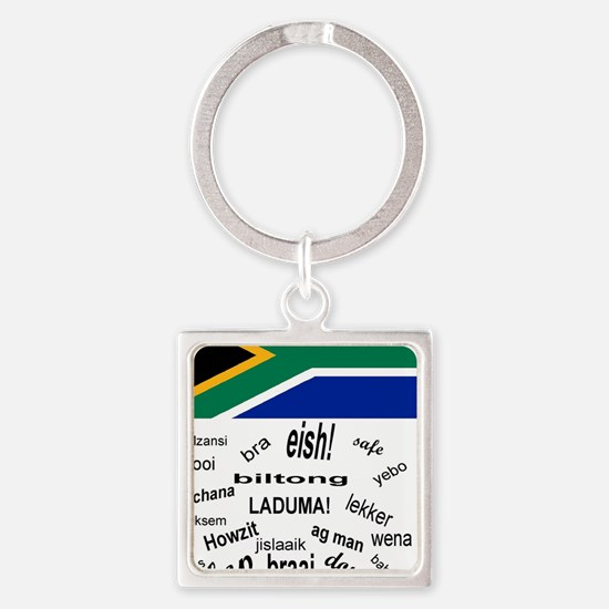 South African Slang Square Keychain