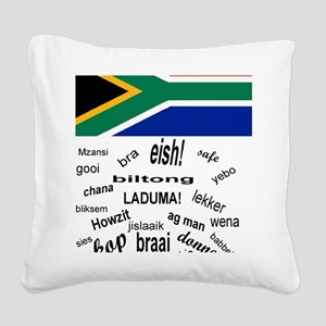 South African Slang Square Canvas Pillow