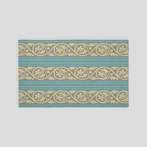 elegant ornate damask and stripes 3'x5' Area Rug