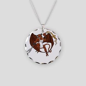 Pit Fiends Necklace Circle Charm