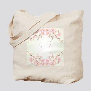 Cherry Blossom OIn Pink And White Tote Bag