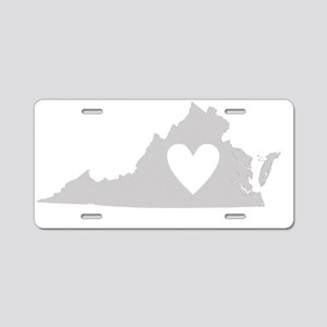 Heart Virginia state silhou Aluminum License Plate